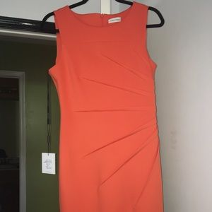 Orange Calvin Klein Dress